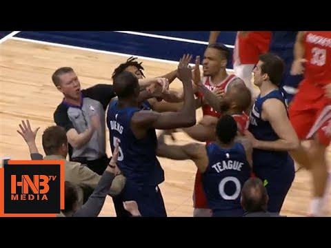 Gerald Green & Gorgui Dieng Scuffle / Timberwolves vs Rockets