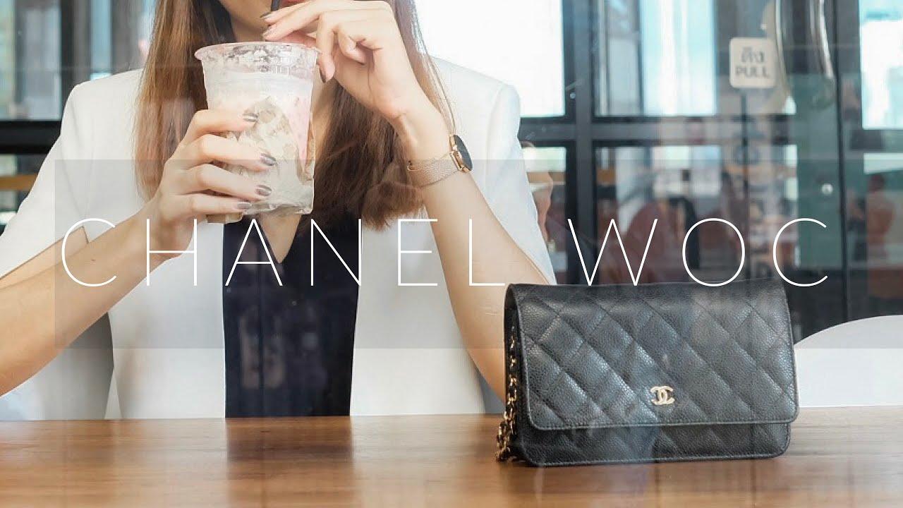 9b0d5613f965 รีวิวกระเป๋าชาแนล Chanel Wallet on Chain (WOC) - YouTube