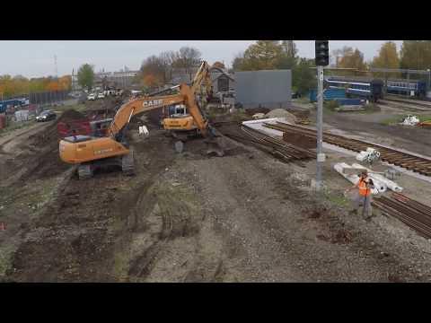Таймлапс: Реконструкция ст. Таллин-Вяйке / Timelapse of Tallinn-Väike station reconstruction
