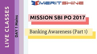 Banking Awareness Part -1 | SBI PO 2017 Online Classes #DAY 1 Mains