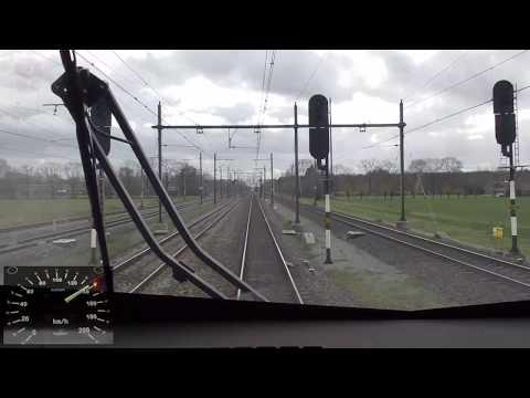 Meerijden met de machinist van 's-Hertogenbosch naar Eindhoven Centraal. (met snelheidsmeter)