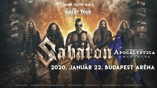 Sabaton / Apocalyptica / Amaranthe: 2020-01-22 Budapest, Arena (zenekari meghívó)