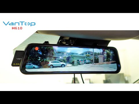 VanTop H610 - Electronic Rear View Mirror - Dash Cam
