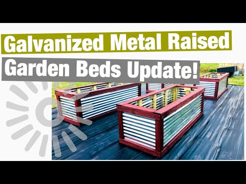 Galvanized Metal Raised Garden Beds Update
