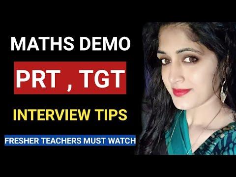 Maths की डेमो क्लास||Best Demo class for maths teachers|| Best interview tricks||