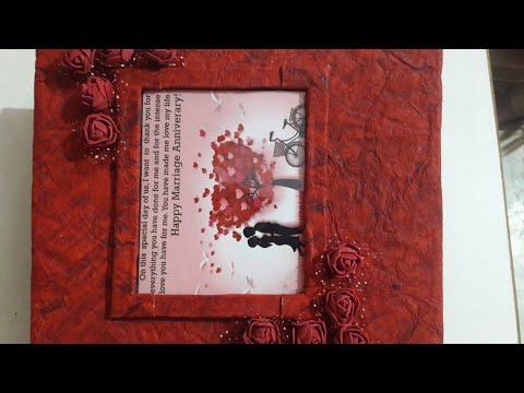 DIY Anniversary scrapbook, popup album, anniversary gift, Handmade anniversary card, scrapbook ideas