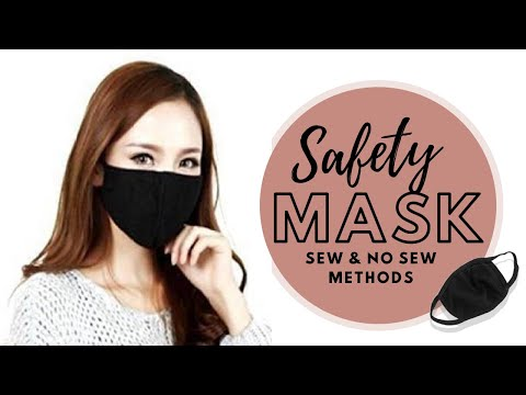 safety-face-mask-😷|-sew-&-no-sew-method-|-protection-from-virus,-pollution,-and-dust