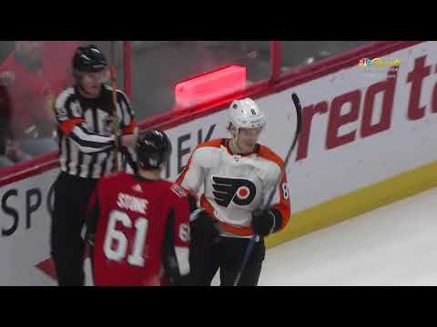 Robert Hägg Goal - Philadelphia Flyers vs Ottawa Senators 2/24/18