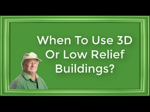 Model Railroad Buildings | When to use 3D or Low Relief Structures on Model Railroads