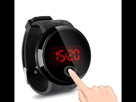 Luminous LED Watch sport military Touch Screen Silicone Sports Bracelet Wrist Watches Men - YouTube
