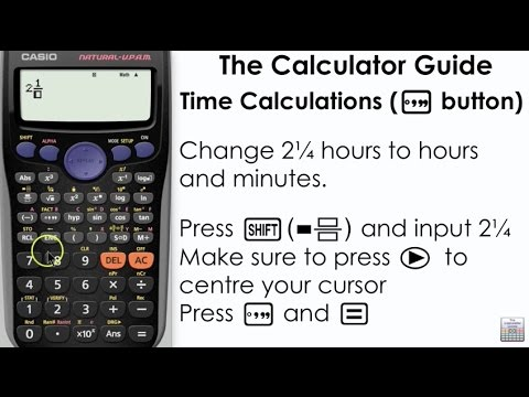 Time Calculations using Casio Calculator - Degrees, Minutes