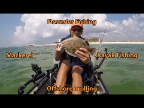 Kayak fishing for Flounder in the gulf of Mexico