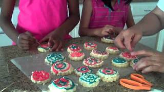 Making Independence Day Cookies