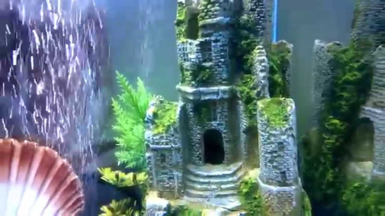 New fish tank d cor magic castle youtube for New fish tank