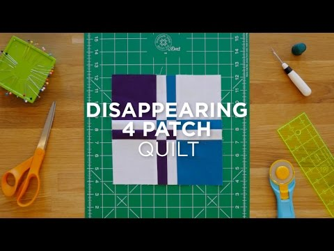 Make A Disappearing Four Patch Quilt Snips Youtube