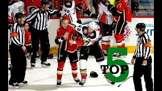 Top Five NHL Hockey Fights of January 2018