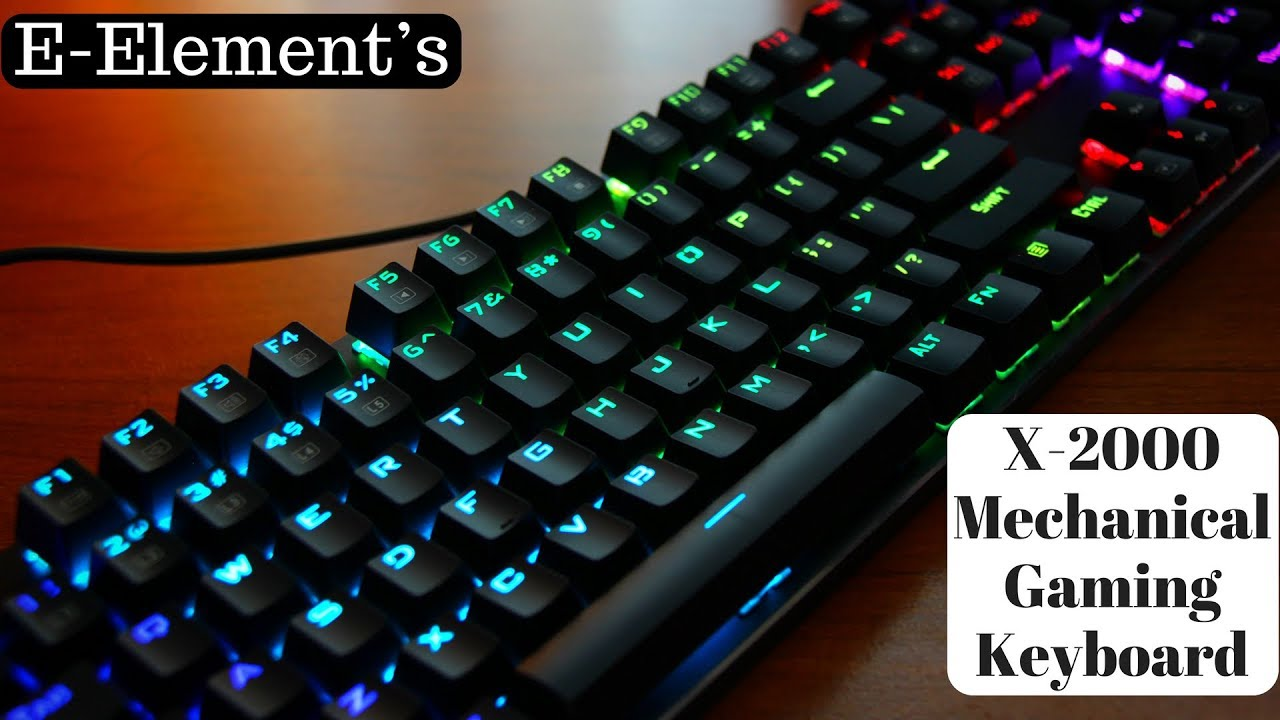 426a164b3f6 E-Element's Z-88 Mechanical Gaming Keyboard 104 Keys with Blue Switches
