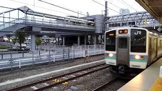 中央線 普通 松本行 発車シーン 211系(松本車両センター所属)