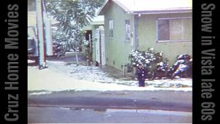 Snow in Vista, CA late 1960s