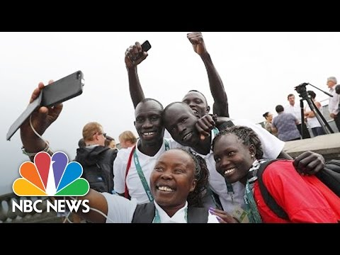 Refugee Athletes Running To Inspire At 2016 Olympic Games   NBC News