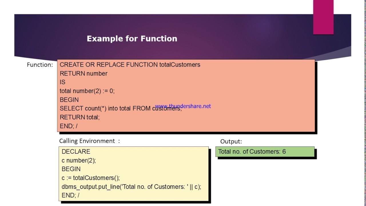 plsql tutorial 4 what is plsql function any example
