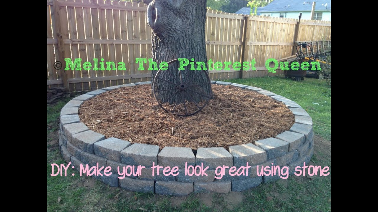 DIY: Stone To Go Around Your Tree   YouTube