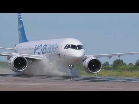 Испытания самолета МС-21-300