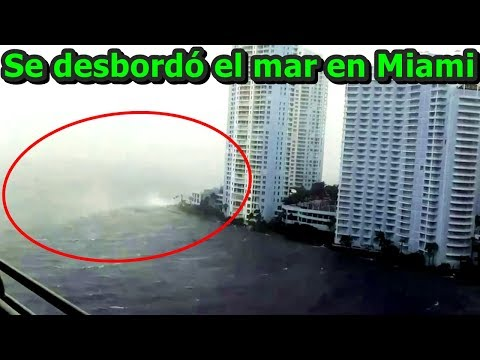 ¡INCREÍBLE! Huracán Irma desbordó el mar en Miami, Florida | Hurricane Irma overflows the sea Miami.