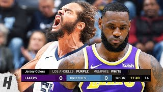 Los Angeles Lakers vs Memphis Grizzlies - Full Game Highlights   February 25, 2019