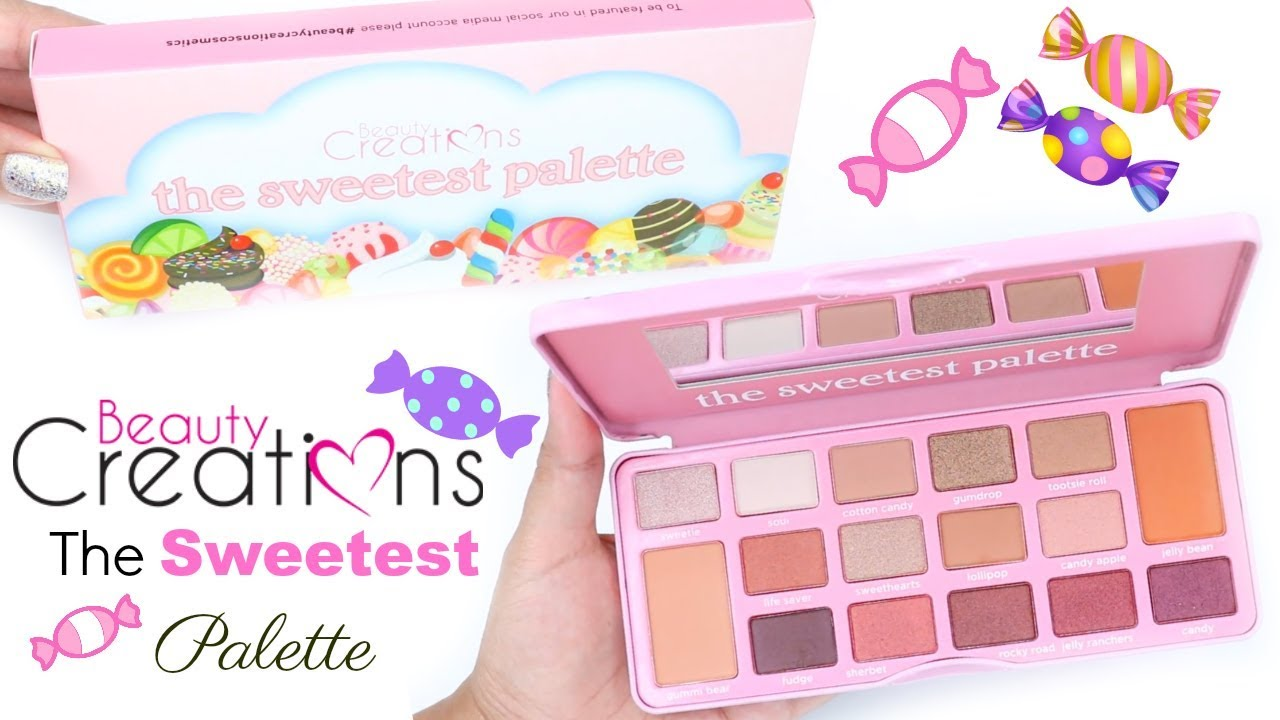 Beauty Creations The Sweetest Palette Swatches Youtube Tease Me Eyeshadow