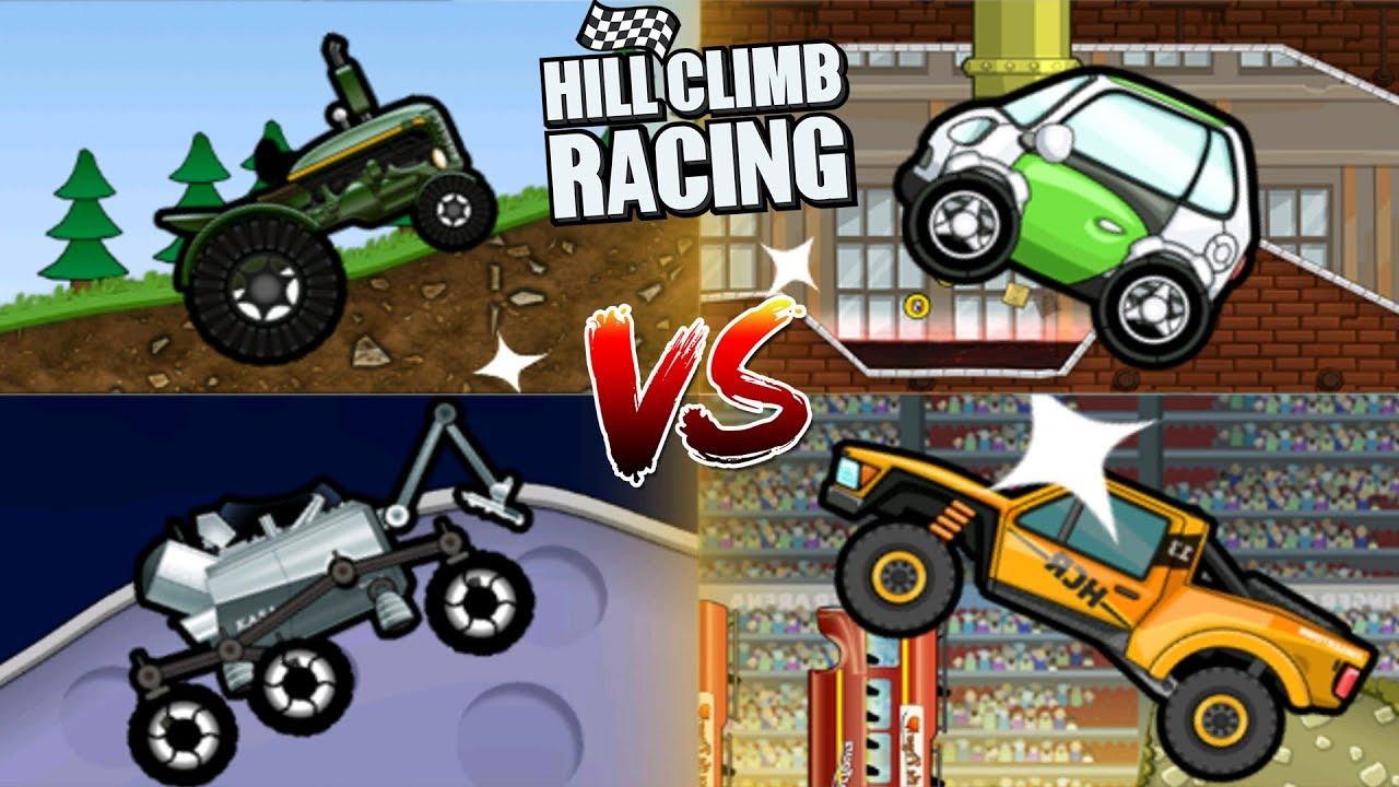 Hill Climb Racing Tractor Vs Electric Car Moonlader Trophy Truck