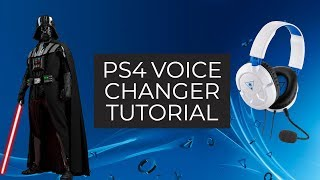 How to make a ps4 voice changer
