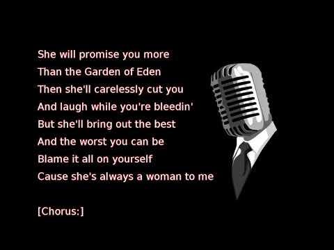 Billy Joel - She's Always a Woman (lyrics)