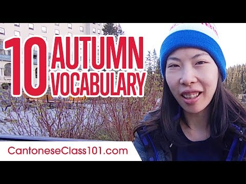 Learn the Top 10 Must-know Autumn Vocabulary in Cantonese