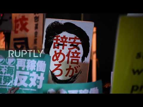 Japan: Protesters demand Abe resign as corruption scandal deepens