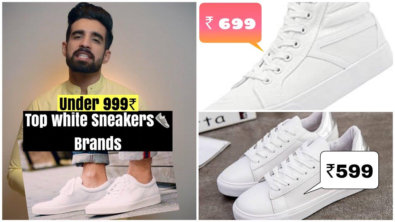 Top WHITE SNEAKERS👟 under ₹999 *Links* #shorts #whitesneaker