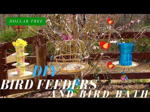 Dollar Tree DIY | BIRD FEEDERS & BIRD BATH