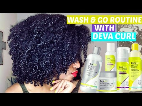 WASH AND GO ROUTINE USING DEVACURL |  SILICONE FREE  |  ON CURLY, NATURAL HAIR