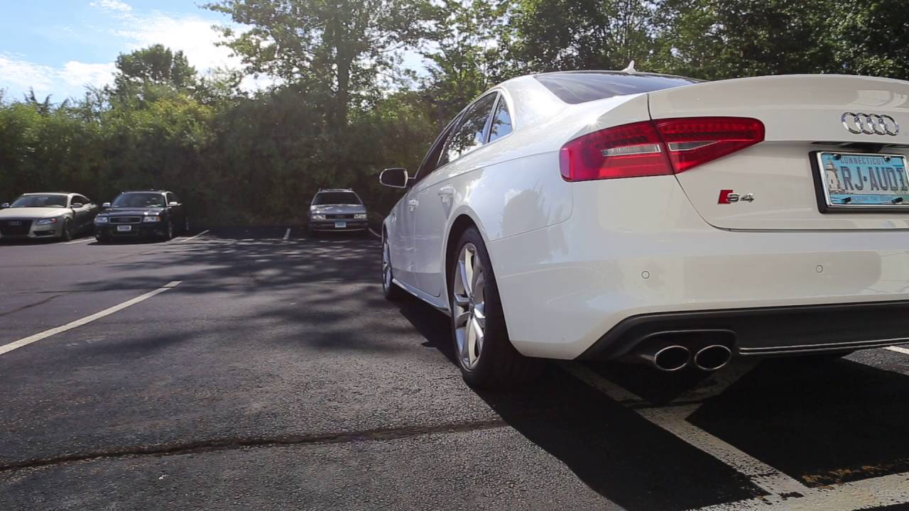 B8/8/5 S4 AWE Tuning Non Resonated downpipes - Stock exhaust
