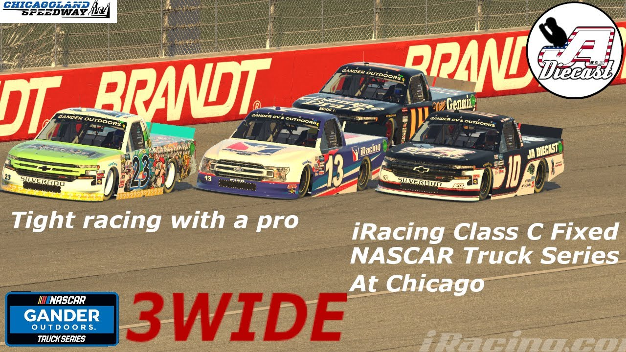 iRacing Class C Fixed Truck Series At Chicago *Close Quarter Racing With Cup Series Driver McDowell
