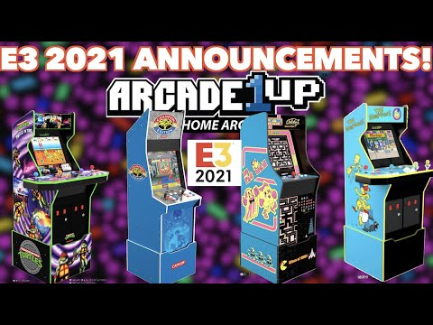 Arcade1Up E3 New Cabinet Announcements! | The Simpsons, Turtles In Time, Big Blue & MOAR PACMAN! from Killer Arcade Games