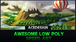 Awesome Low Poly Scence | Speed Art | Cinema 4D