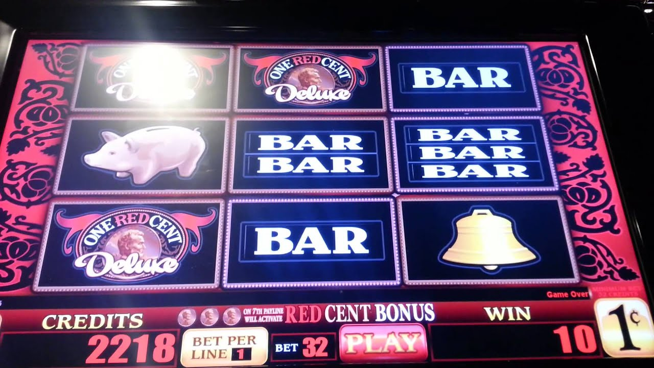 one red cent deluxe slot machine
