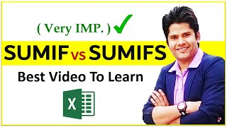 sumifs formula in excel in Hindi || sumif and sumifs excel functions