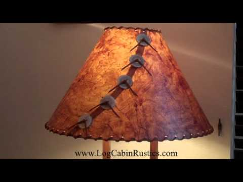 Perfect Rustic Lamp Shade - Country Rice Paper Lamp Shades made in America  XB13