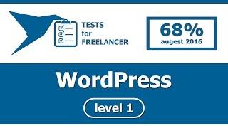 Freelancer - WordPress - level 1 - test (68%)