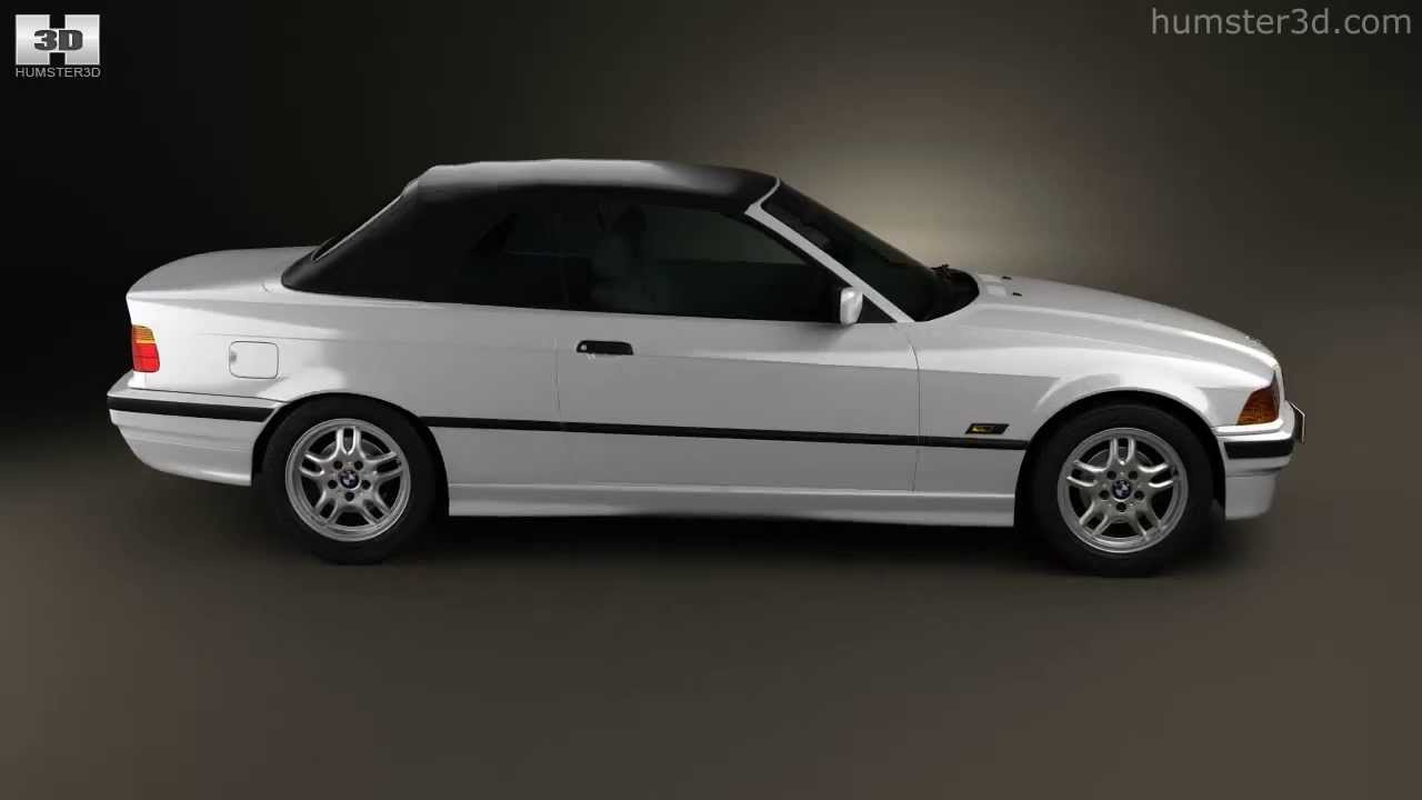 bmw 3 series e36 convertible 1994 by 3d model store youtube. Black Bedroom Furniture Sets. Home Design Ideas
