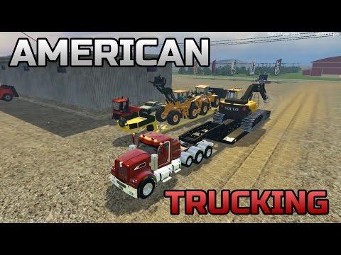 Farming Simulator 2015- American Trucking On Salem South Dakota Map!