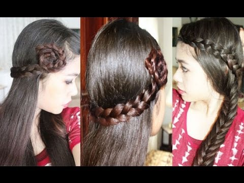 Easy Quick Amp Chic EverydayParty Hair Tutorial Lace Braid