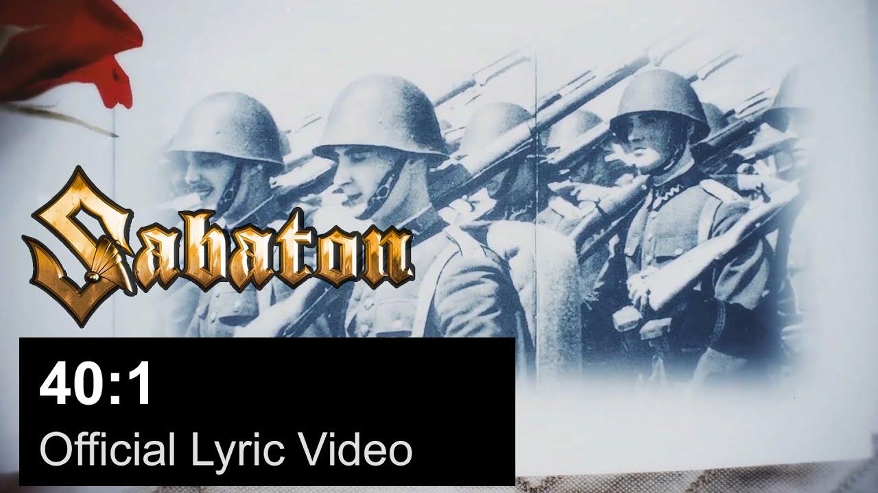 SABATON - 40:1 (Official Lyric Video)
